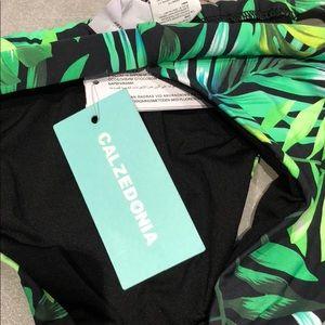 super servicio bien baratas proporcionar un montón de NWT Calzedonia tropical Palm green black bikini m NWT